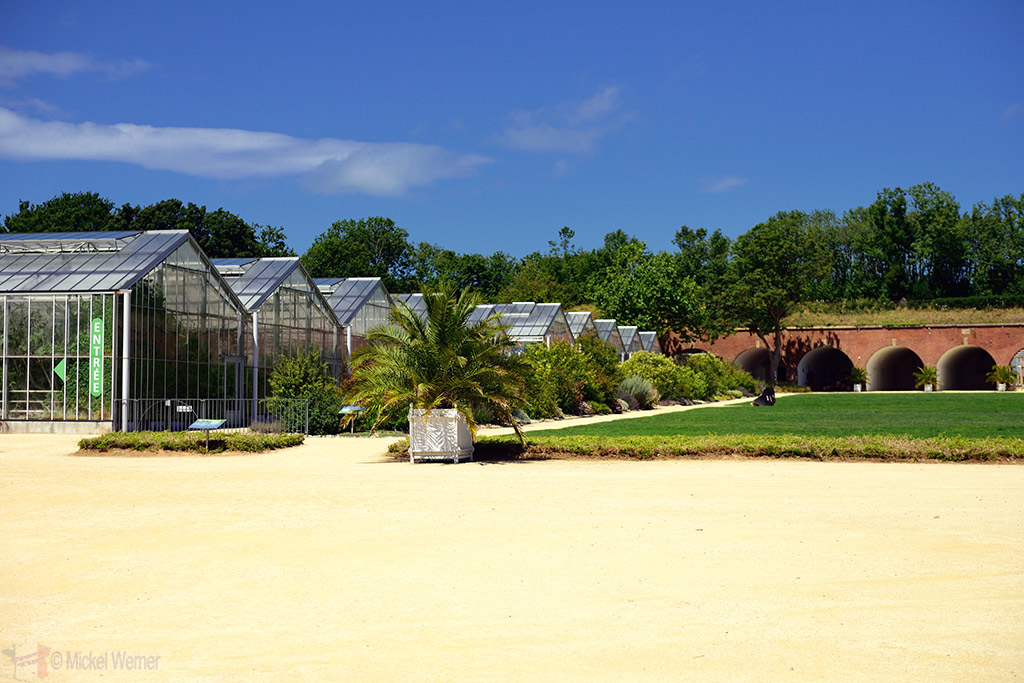 One side of the greenhouses of the jardin suspendu of le havre for Jardin suspendu