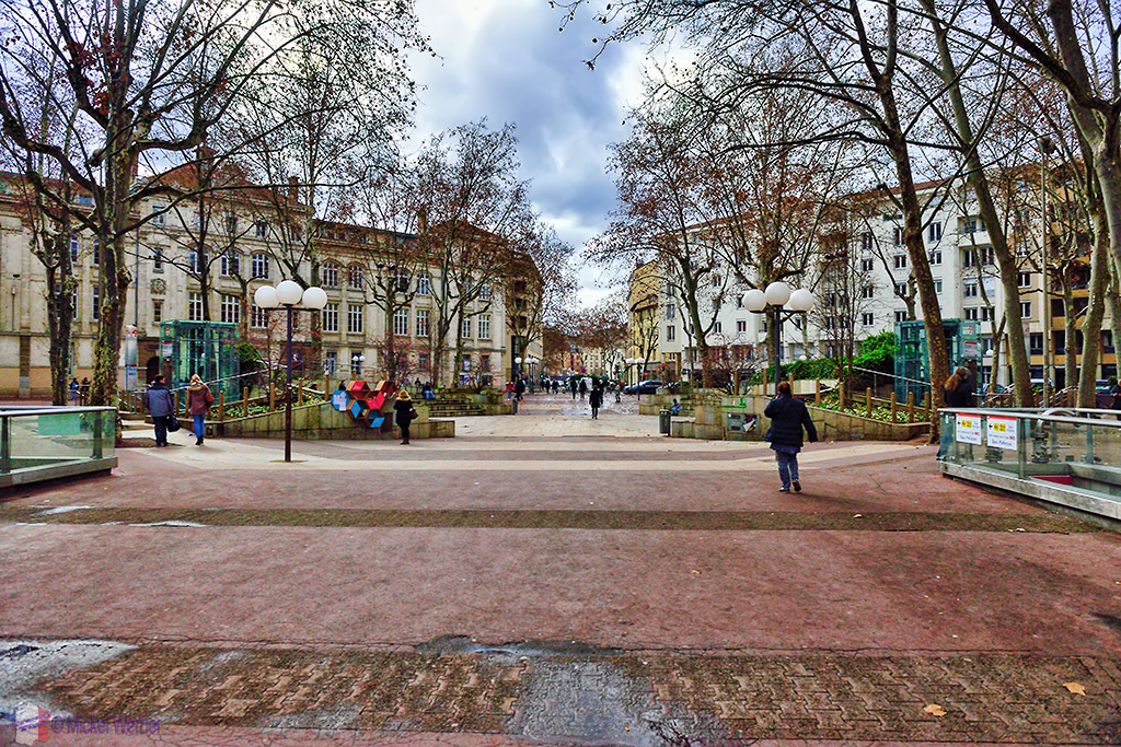 """The """"Place Guichard"""" square of Lyon"""