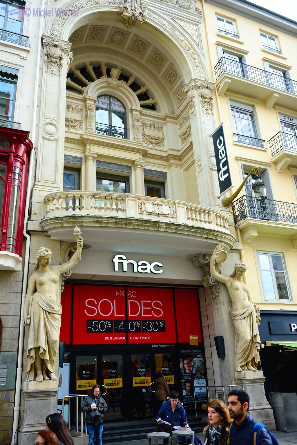 Building facades in Lyon