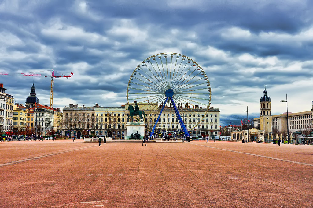 La Place Bellecour square of Lyon
