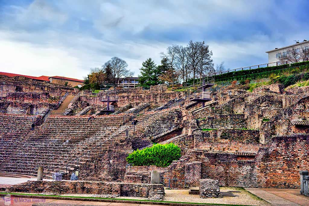 Main Roman theatre on the Fourviere hill of Lyon