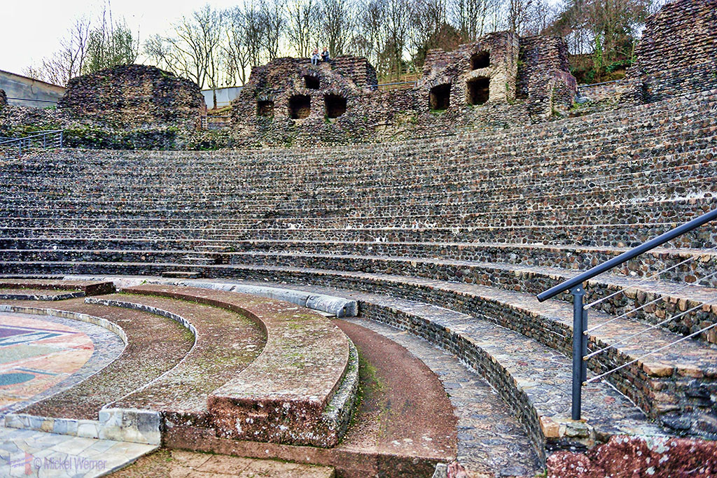 Odeon Roman theatre on the Fourviere hill of Lyon