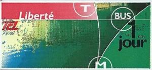 Lyon public transportation Liberte card for unlimited access.
