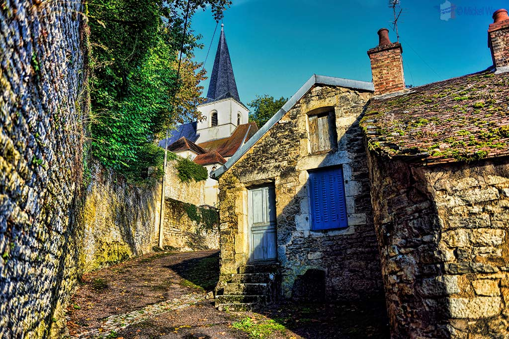 Sainte-Urse church inside the Buffon Parc in Montbard, Burgundy
