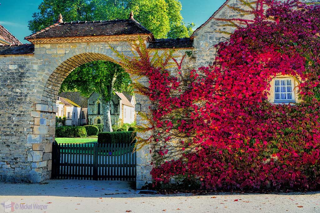 Fontenay Abbey in Montbard, Burgundy entrance