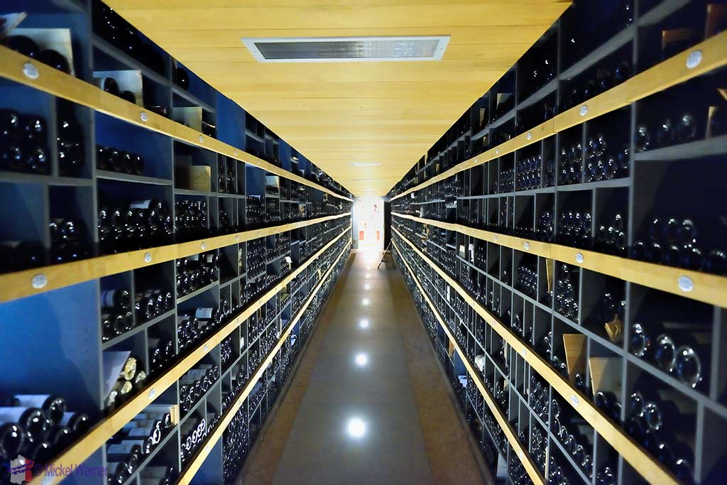 The 20,000 bottle wine cellar of the Paul Bocuse restaurant close to Lyon
