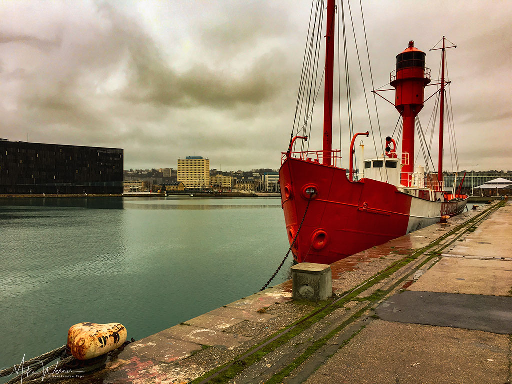 Lighthouse ship in the Le Havre harbour