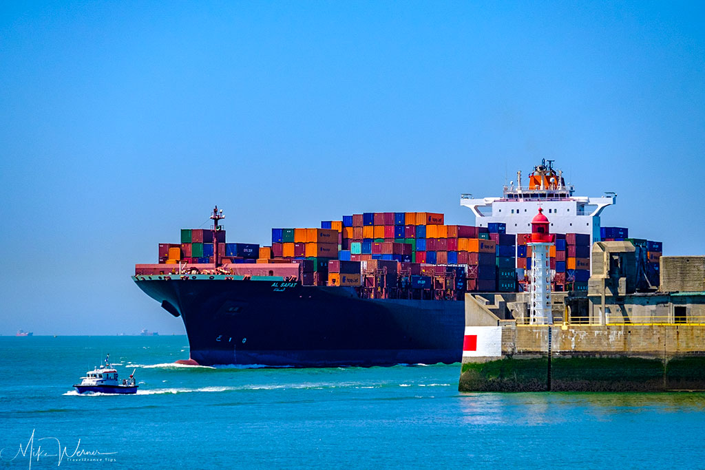 Today - The wider port entrance allows for enormous container ships