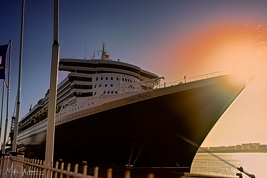 Today - The Queen Mary 2 Cruise Ship, a regular visitor