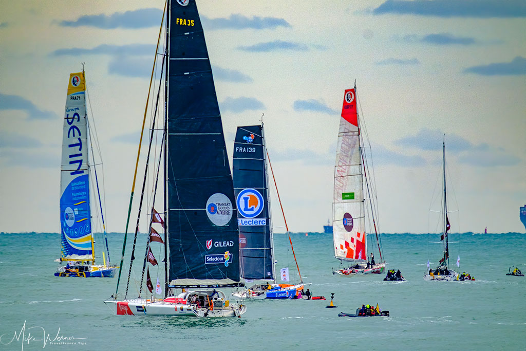 Today - Regatta and other Sail Races are a normal and very regular occurrence in Le Havre
