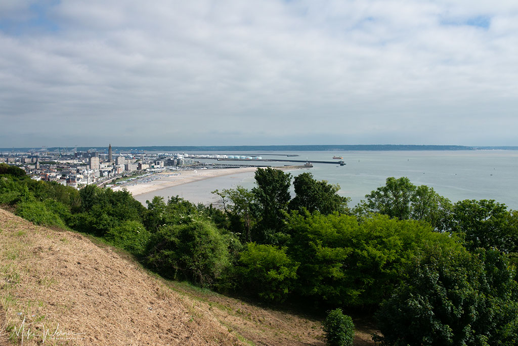 Today - View of le Havre from the Sainte-Adresse cliffs