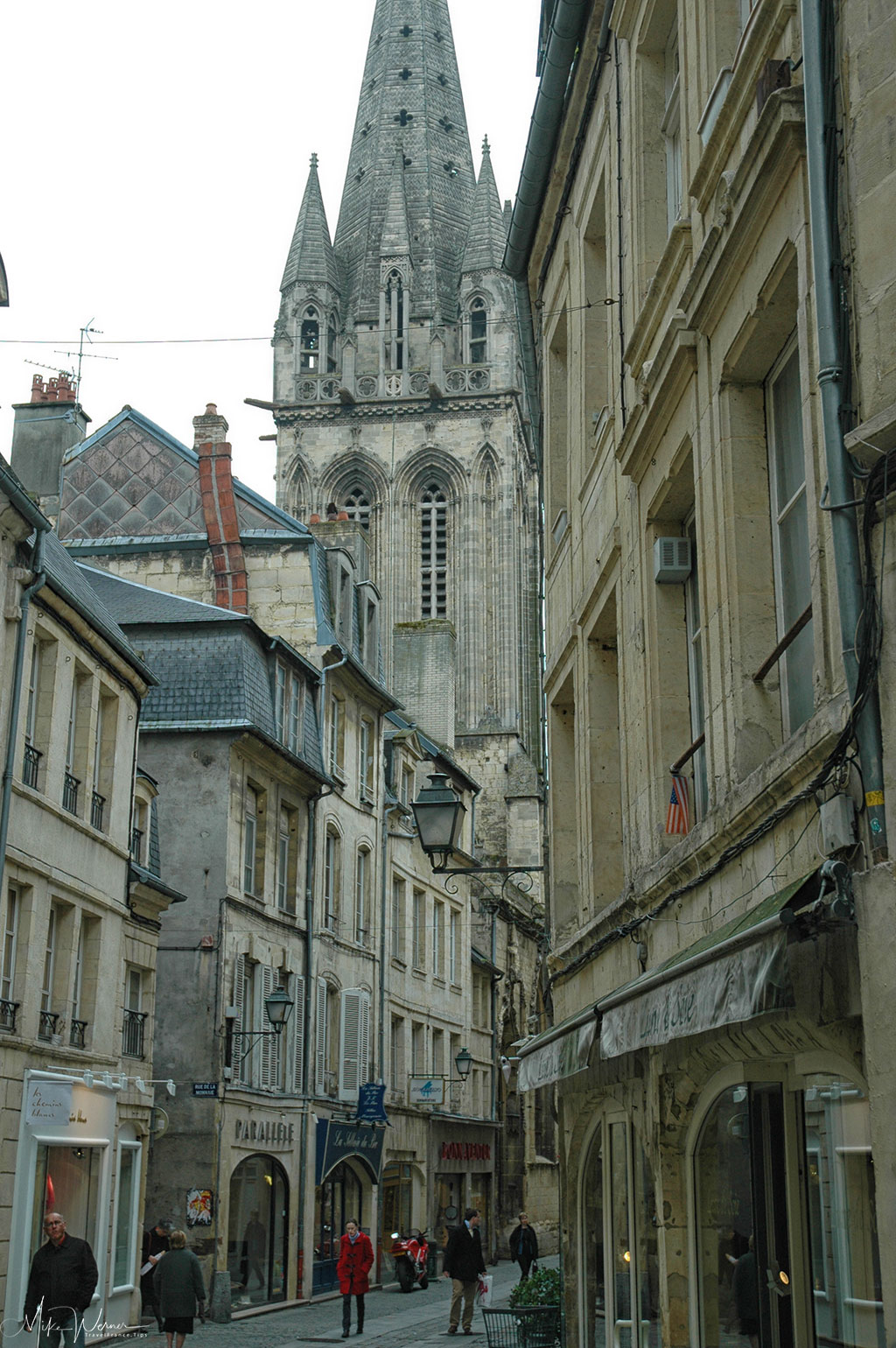 Today the Saint Pierre church can still be seen from far within Caen
