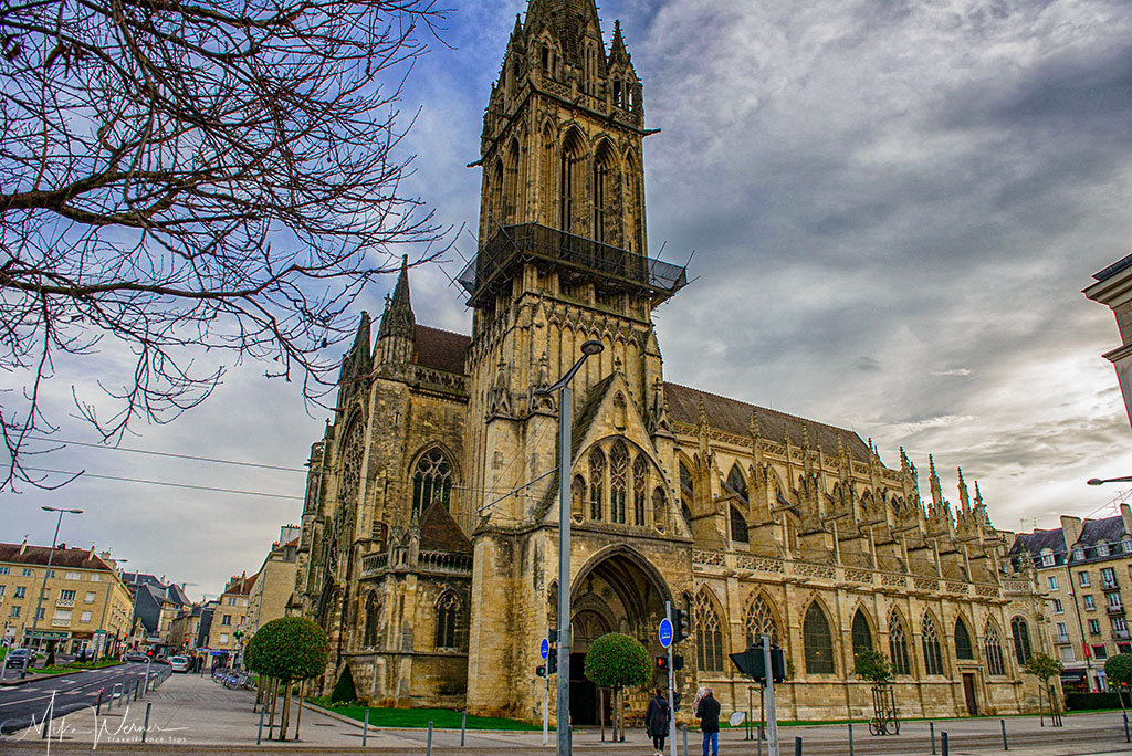 Today - The Saint Pierre church is a centre piece of Caen