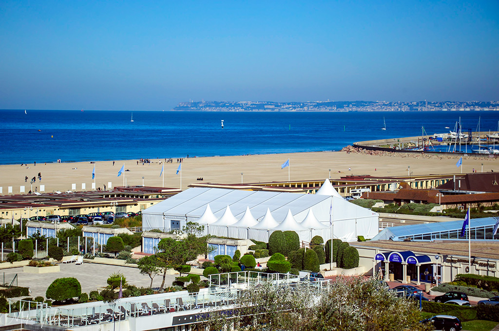 TODAY - From left to right; the Deauville Beach, Deauville Marina and Le Havre in the Distance
