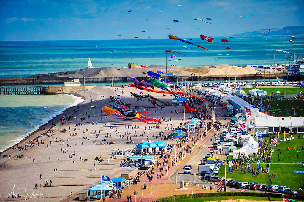 Today: Busy Beach during Kite Festival