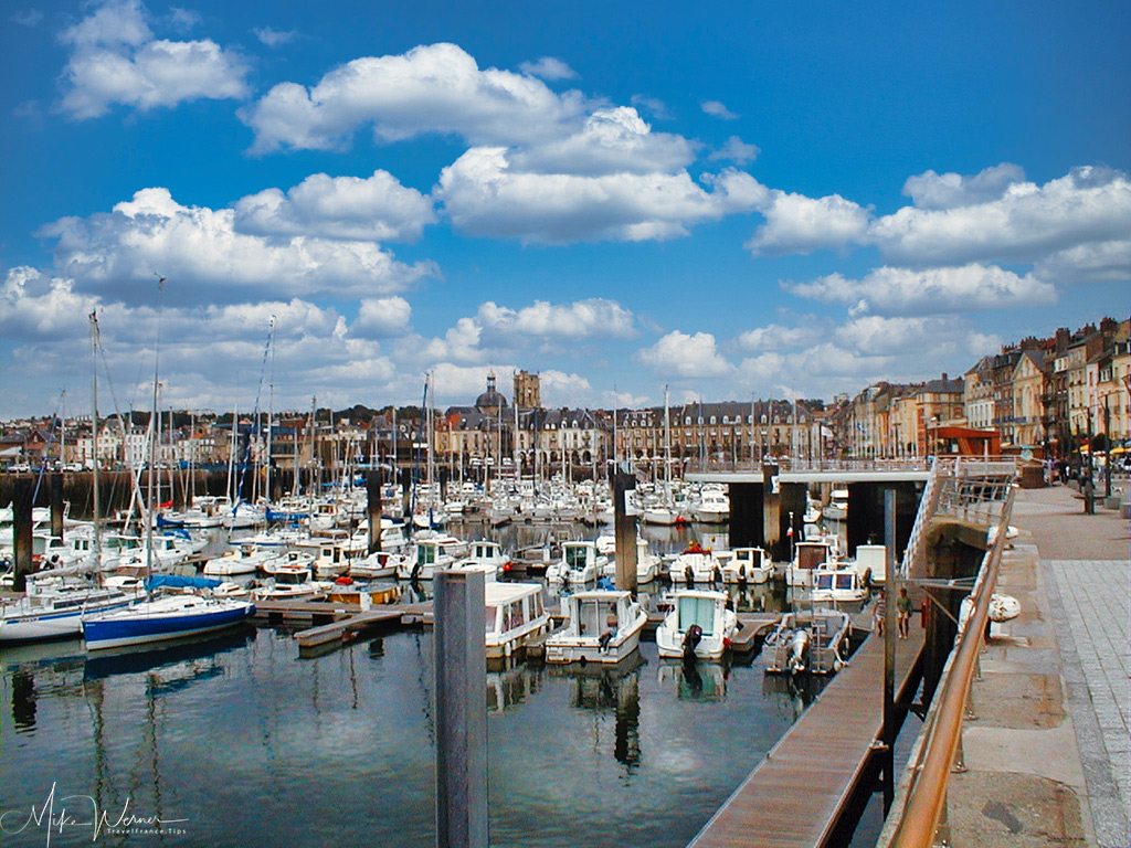 Today: Small boat harbor of Dieppe