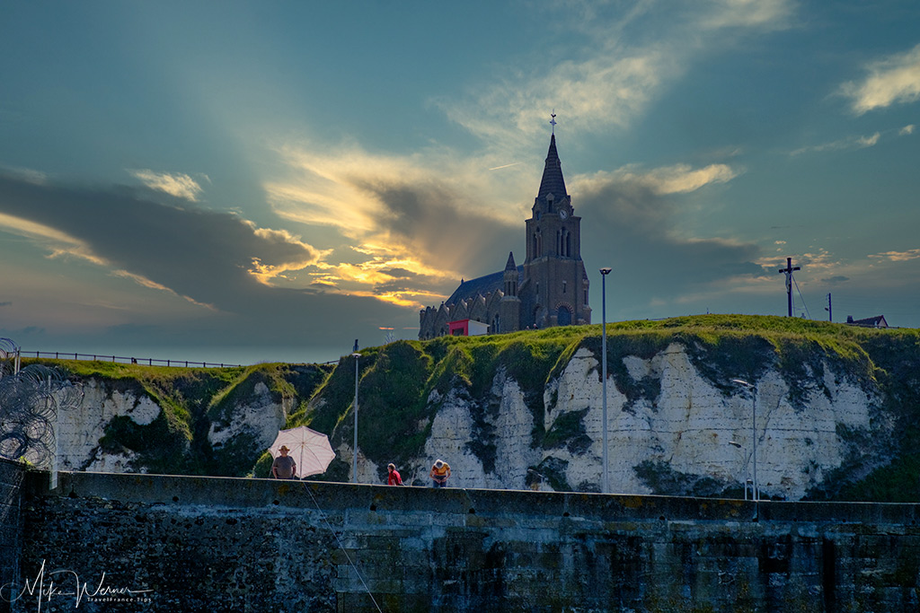 Today: Church (Eglise Notre-Dame de Bonsecours de Dieppe) at Dieppe port entry